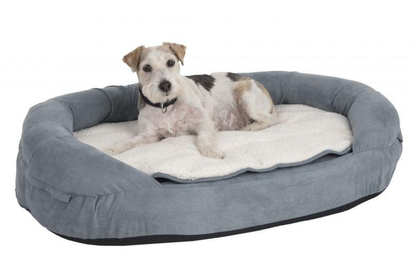 Dit is een orthopedische hondenmand met memory foam geschikt voor honden met gewrichtspijn.
